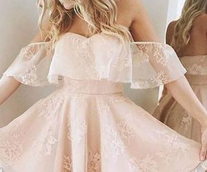 dress and pink homecoming dress image