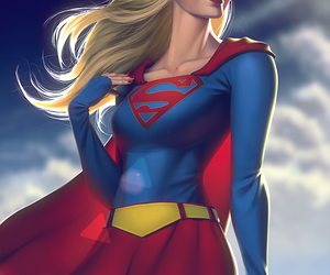 DC, Supergirl, and fanart image