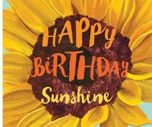 birthday, sunflower, and summer image