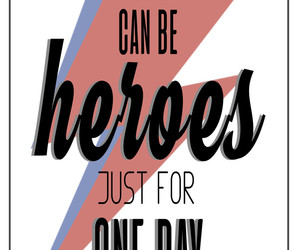 art, david bowie, and heroes image