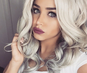 beauty, lips, and color hair image
