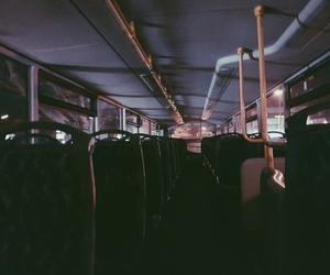 alone, bus, and dark image