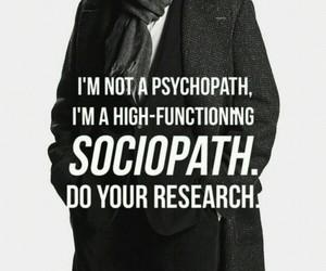 sherlock, sociopath, and sherlock holmes image