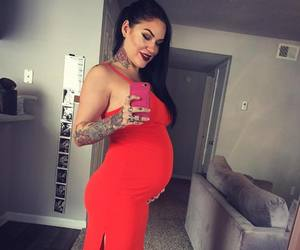 mirror, pregnant, and selfie image