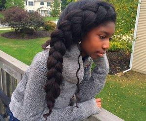 hair, kinky, and straightened image