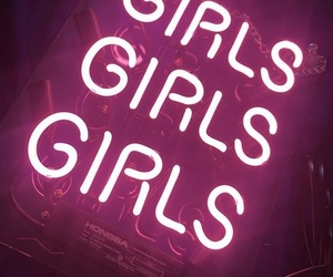neon, girls, and pink image
