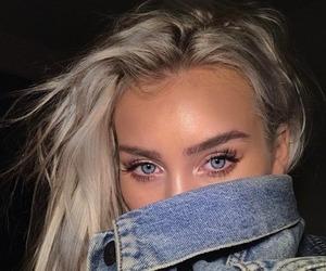 girl, eyes, and blue eyes image