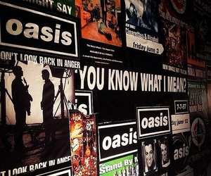 oasis, band, and 90s image