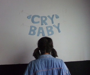 aesthetic, blue, and cry baby image