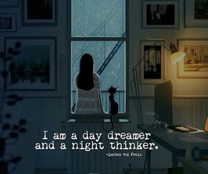 daydreaming, smiles, and dreamer image