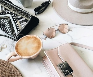 coffee, marble, and purse image