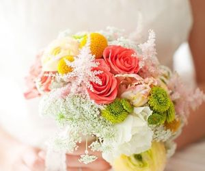 wedding, beautiful, and bouquet image