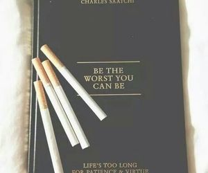 book, cigarette, and black image