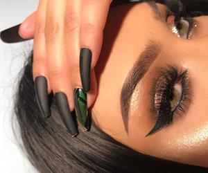 eye makeup, girls, and hair image