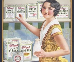 advertisement, kitchen, and retro image