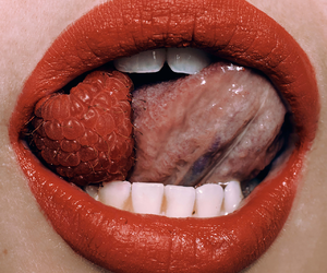 red, lips, and raspberry image