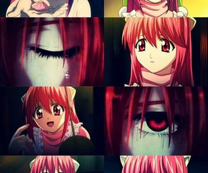 anime, Lucy, and elfen lied image