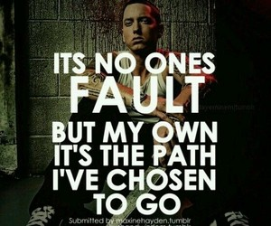 eminem, quote, and fault image
