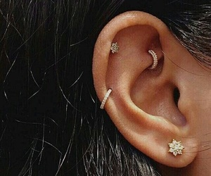 piercing, earrings, and fashion image