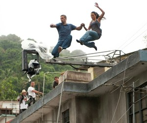 behind the scene, paul walker, and fast and furious image