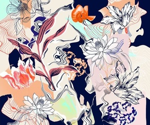 background, flowers, and cool image