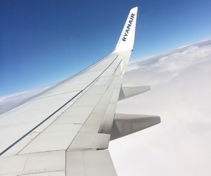 cloud, travel, and plane image