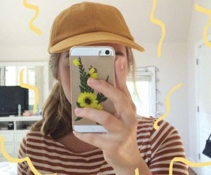 girl, yellow, and aesthetic image