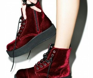 shoes, creepers, and red image