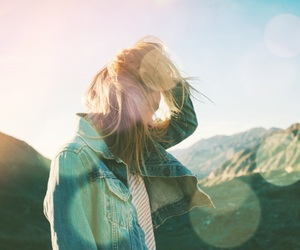 blonde hair, sunset, and tumblr image