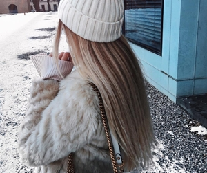 blonde, fashion, and sweater image
