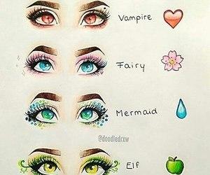 eyes, mermaid, and elf image