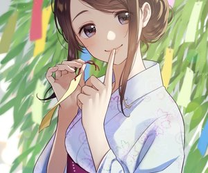 anime, girl, and tanabata image