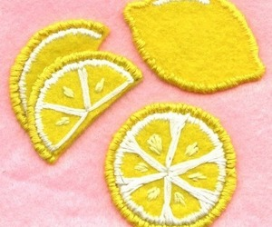 lemon, patch, and yellow image