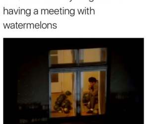 funny and watermelons image