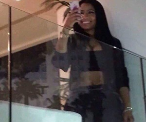 on the phone, reaction, and nicki minaj image