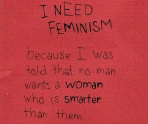 feminism, quotes, and red image