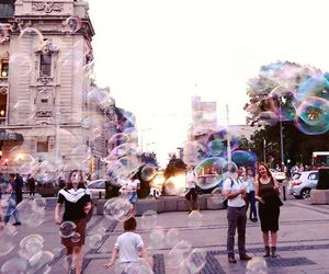 bubbles and city image