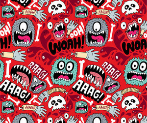 background, monster, and red image