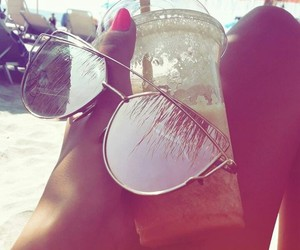 beach, drink, and fresh image