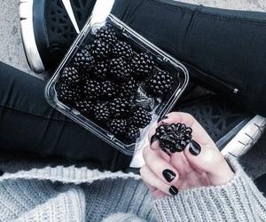 berries, black, and nike image