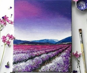 art, flowers, and purple image