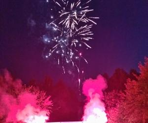 розовый, небо, and салют image