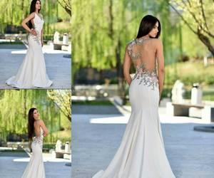 dress, elegant, and white image