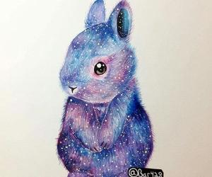 cute, art, and bunny image