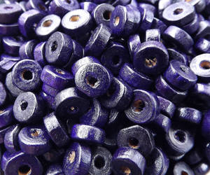 etsy, purple wood beads, and spacers image