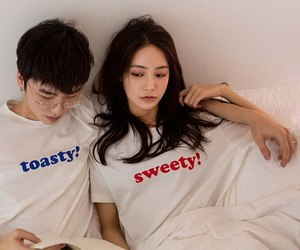 korea, love, and asian image
