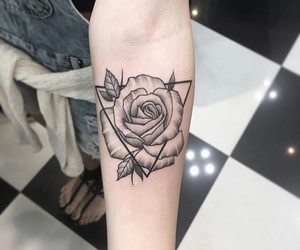 arm, black, and flower image