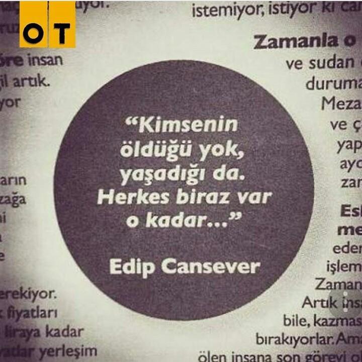 türkçe sözler, edip cansever, and ot dergi image