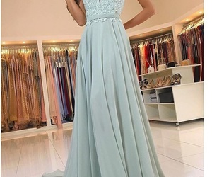 long prom dress and long bridesmaid dress image