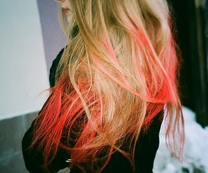blonde, dye, and pink image